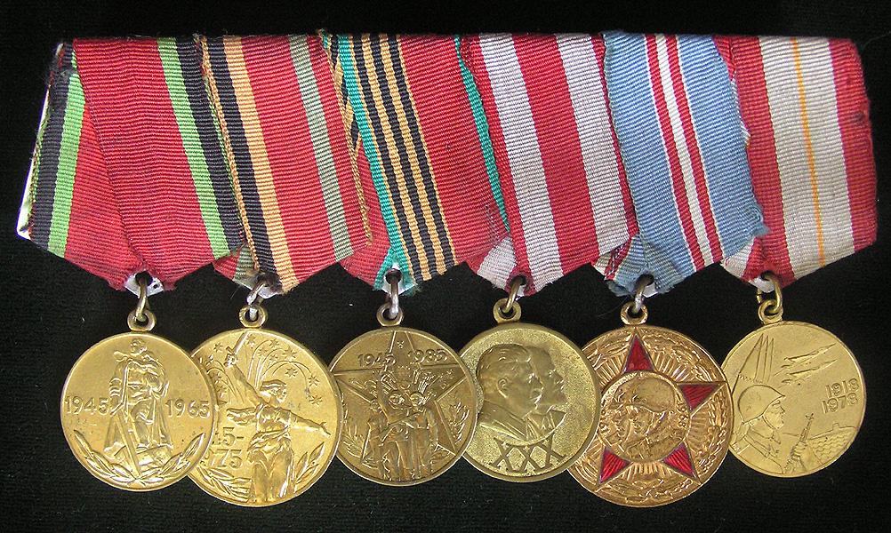 Ордена и медали на единой орденской колодке